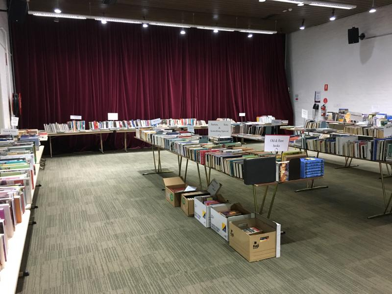 Function Room set up for a book sale