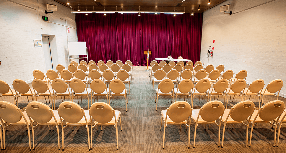 Function room set up for a seminar
