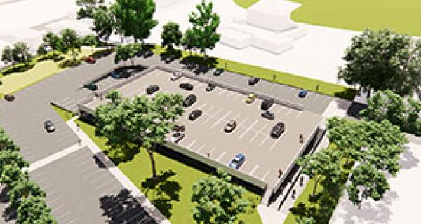 project update car park render view