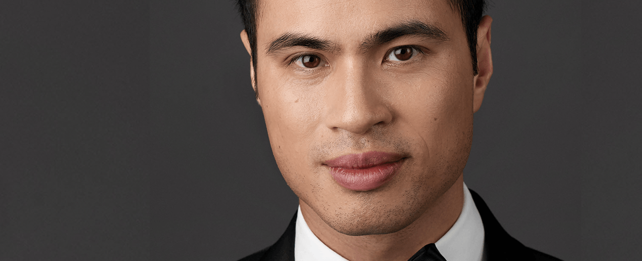 A close up head shot of classical musician, Hoang Pham